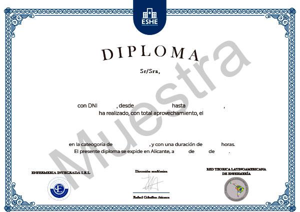 Parte delantera del diploma