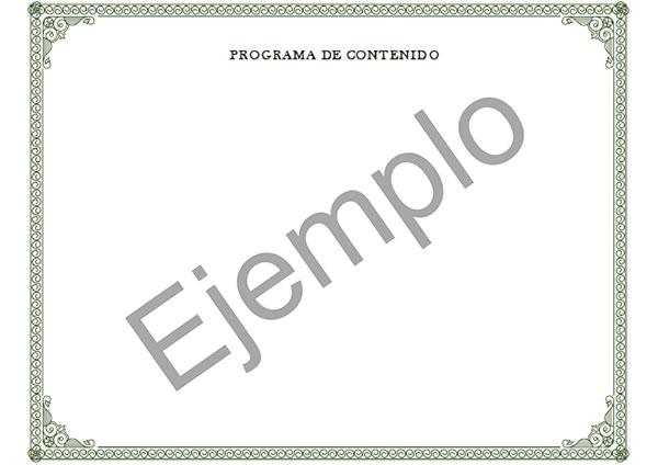 Parte trasera del certificado