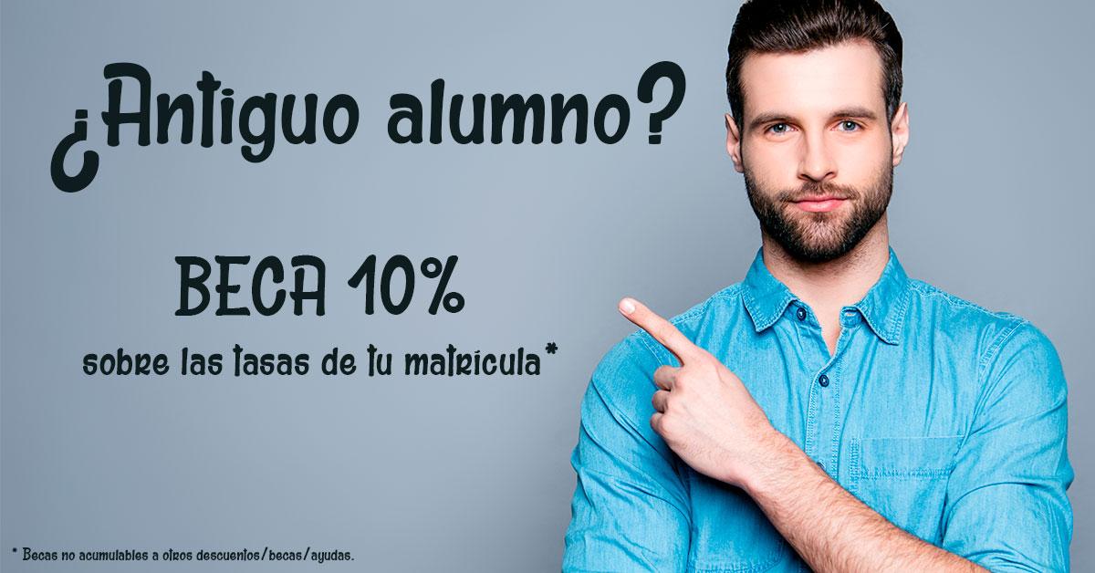 Beca 10% para antiguos alumnosESHE dispone de ayudas a los antiguos alumnos y recién titulados o graduados de un 10% sobre las tasas de matrícula.
