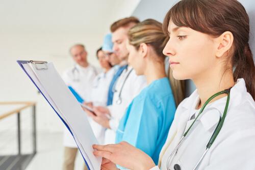 Grupo de enfermeros